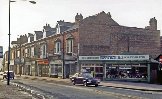 A Geoff Dowling image of this end of the row, 1973 (used with permission)