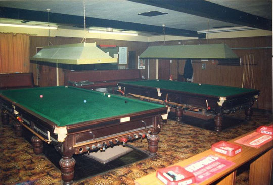 The snooker room, 15th January 1989