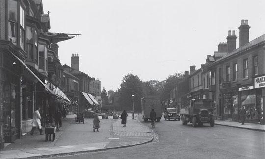 Warwick Road at Station Road, 1936 (Birmingham Libraries)