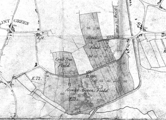 Extract from the Enclosure Map of Yardley (Birmingham Libraries)