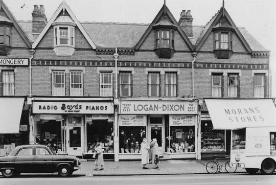 Shops to Woodberry Walk, 1958 (Birmingham Libraries)