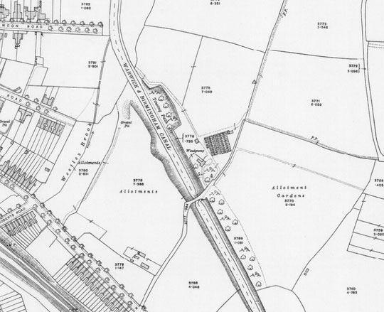 1916 O.S. map extract (Birmingham Libraries)