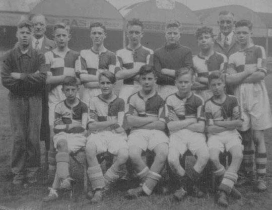 Hartfield Crescent team, 1945 (Aston Villa Schools Cup, at Villa Park: thanks to Sid Bardell)