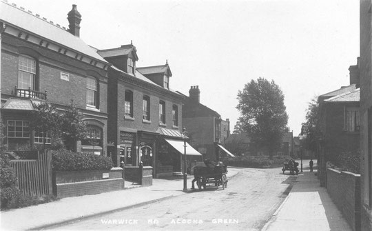 The first shops after Dudley Park Road, c. 1902. The 1914 Post Office building was built in the gap c. 1914 (thanks to Peter White)
