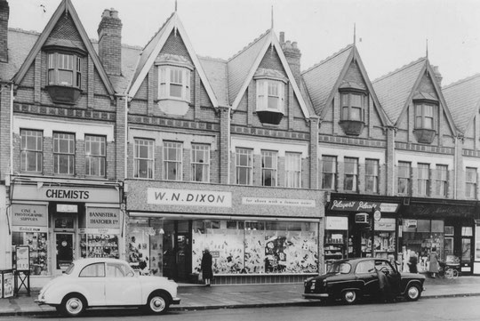 Part of the row near Oxford Road, 1960 (Birmingham Libraries)