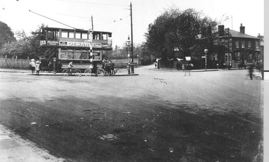 The original end of Westley Road, 1923 (Birmingham Libraries)