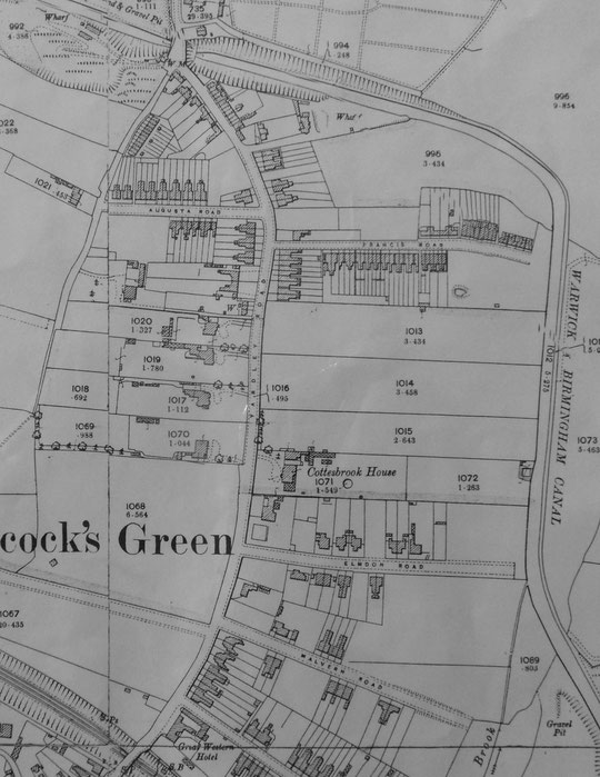 Extract from the 1904 O.S. map (Birmingham Libraries)