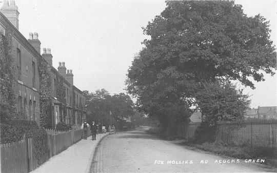Houses opposite the Recreation Ground c. 1910 (thanks to Peter White)