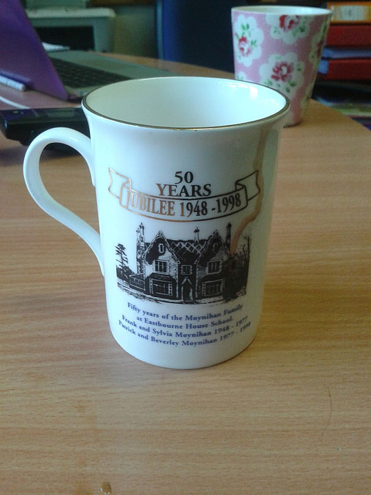 A commemorative mug for Eastbourne House school