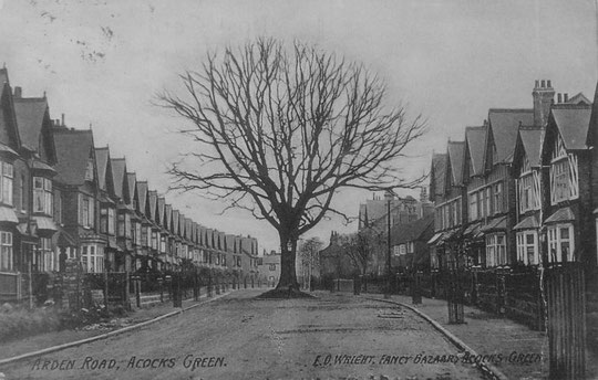 Arden Road, a similar view, with the tree prominent