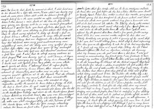 Part of William Ellard's journal (David Ellard)