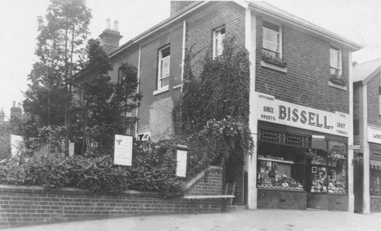 Bissell's sweet shop, c. 1932. Note the boarded-up door to Victoria Road (Peter White)