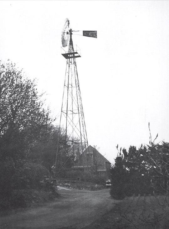The wind pump at the Vineries, 1933 (Birmingham Libraries)