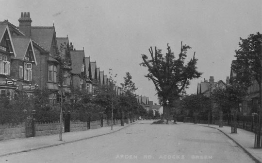 Arden Road after the new houses have been built