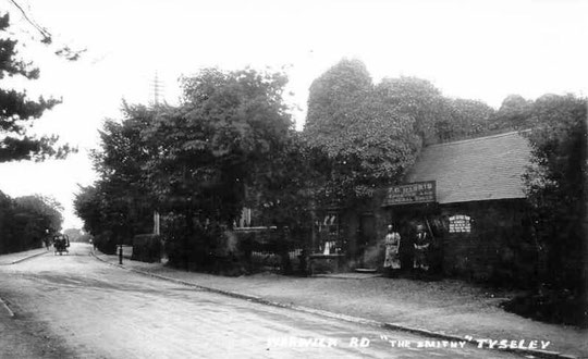 The smithy opposite Stockfield Road