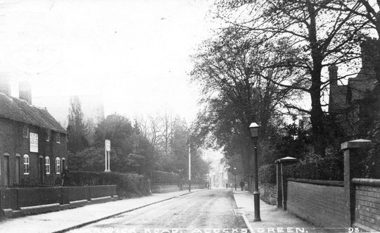 Charity cottages east of Flint Green Road, c. 1905
