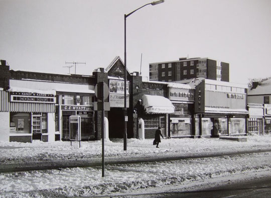 One of Dixon's shops, in the Alder row, 1982 (Mike Wood)