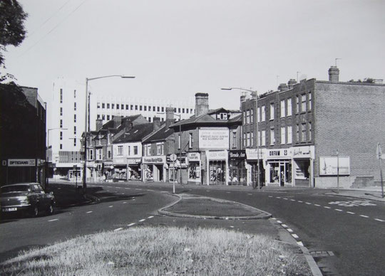 Warwick Road looking back to the white tower, c. 1980 (the late Mike Wood)