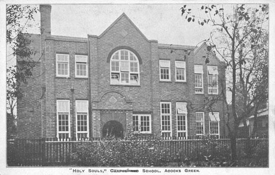 The original frontage of Holy Souls Catholic school of 1907