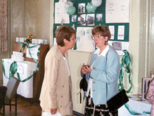 Barbara and Vera at the 20th Anniversary celebrations, September 1993