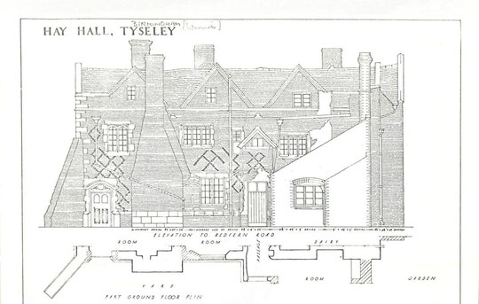 Elevation to Redfern Road, 1932 (via K. Sprayson)