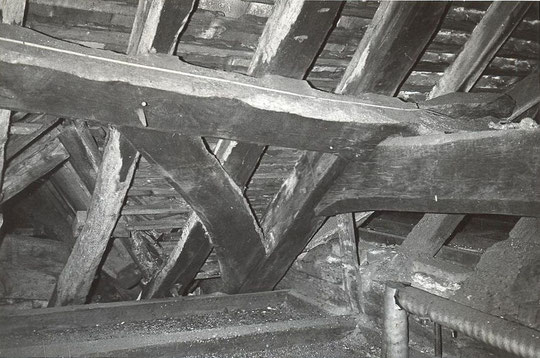 5. Roof construction showing roof above porch