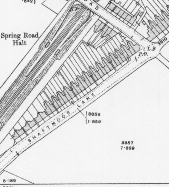 1916 O.S. map extract