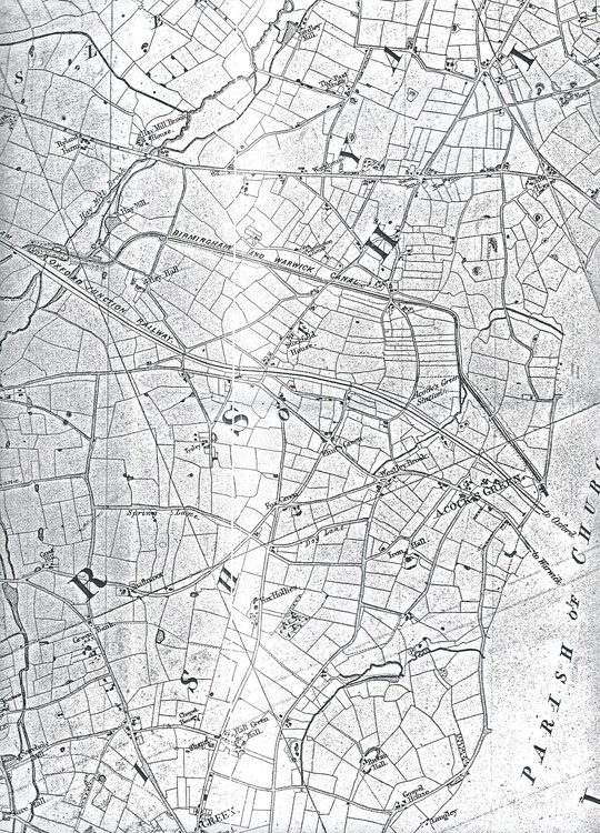 Extract from Blood's Map of 1857, via David Treadwell