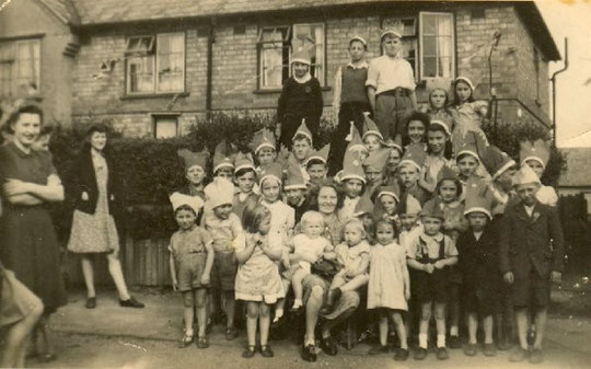 A party at Pool Farm Road (from The War Years, used with permission)