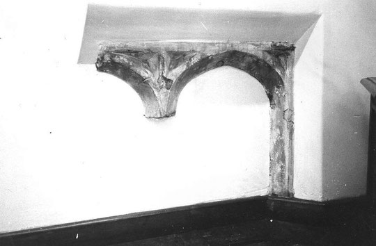 Window frame, north west wall of hall (K. Sprayson)