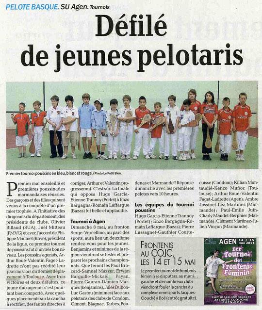 Petit Bleu 3 mai 2011