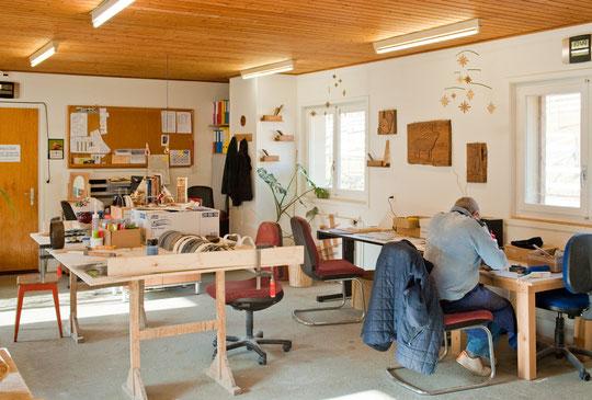 Une partie de l'atelier menuiserie (© YL)