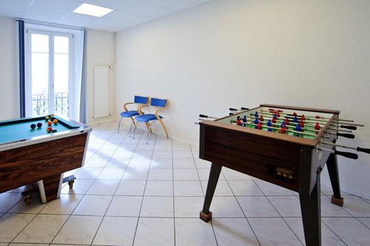 La salle de loisir ouverte à tous (© YL)