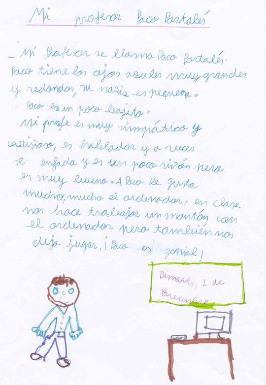DESCRIPCION: MI  PROFESOR - INDIA MAÑEZ  IBAÑEZ - 5º