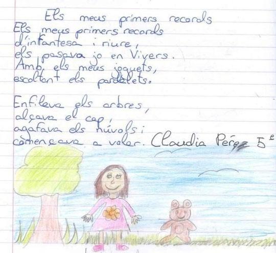 ELS  MEUS  PRIMERS  RECORDS  -  CLAUDIA  PÉREZ - 5é