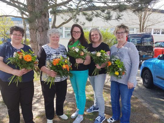 Kerstin Lindemann, Kathrin Illichmann, Kathrin Kiwitz, Petra Müller, Rosemarie Kiwitz