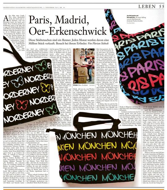 Robin Ruth in der Frankfurter Allgemeinen Sonntagszeitung