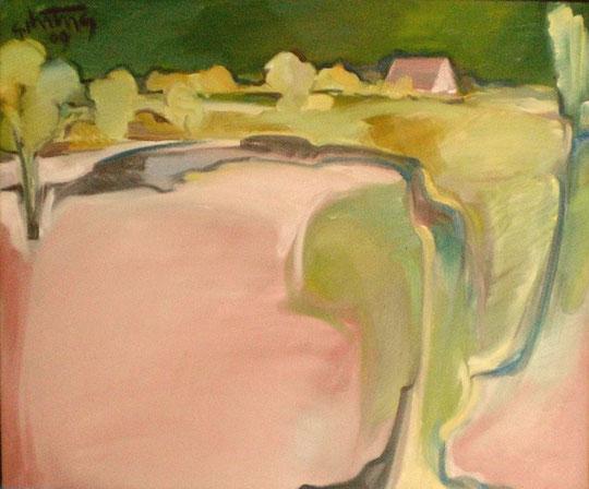 """""""Haus in der Heide"""", 2012, Öl / Leinwand, 50 x 60 cm"""