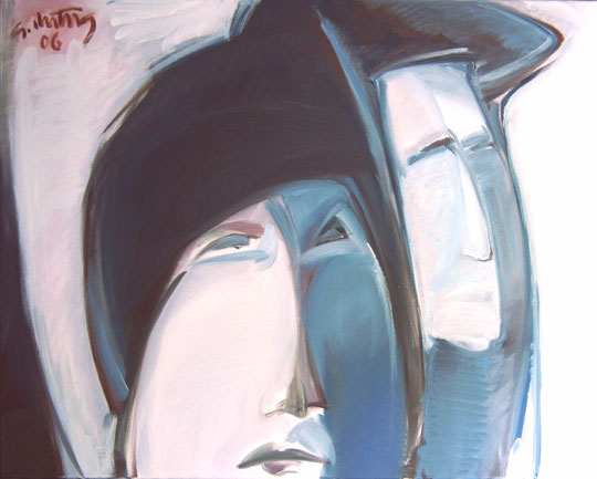 """""""Paar"""", 2006, Öl/Leinwand, 80 x 100 cm"""