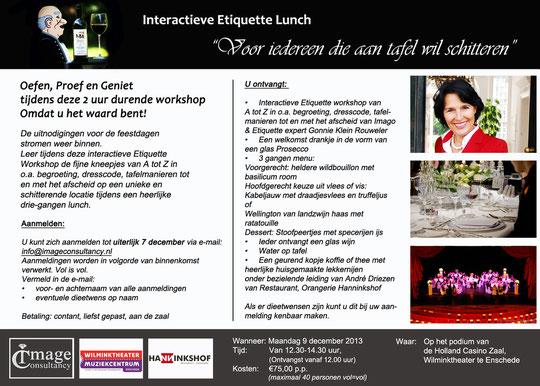 Interactieve Etiquette Lunch voor iedereen die aan tafel wil schitteren