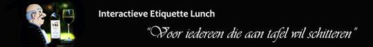 Imago en etiquette deskundige Gonnie Klein Rouweler, Interactieve Etiquette Lunch