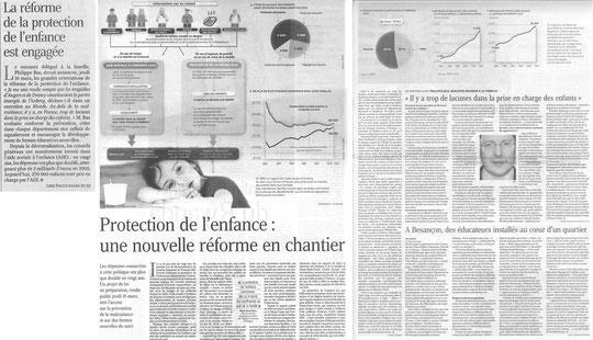 article Le Monde, 17.032006 sur la réforme de la protection de l'enfance