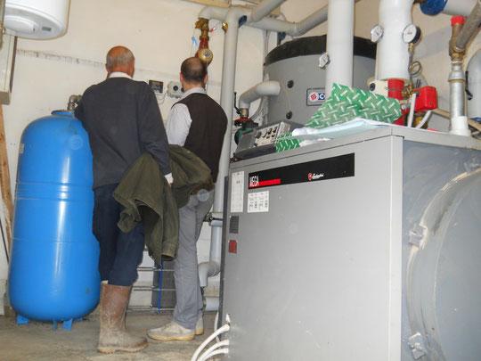 Visita al locale di collegamento tra impianto di teleriscaldamento e centrale termica esistente
