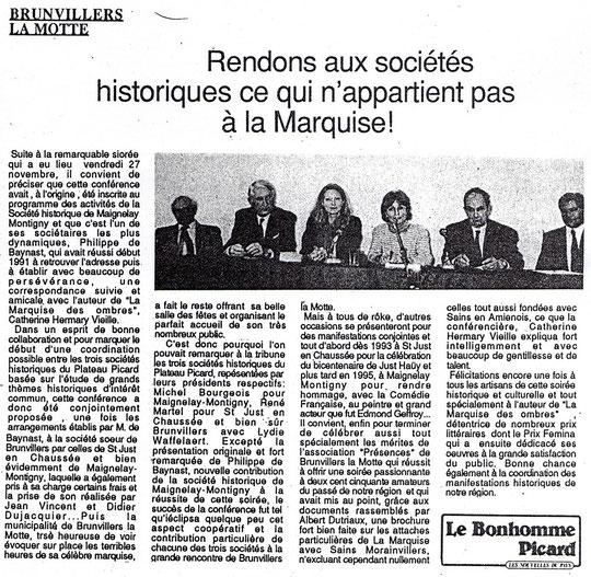 Le Bonhomme picard du 10 décembre 1992