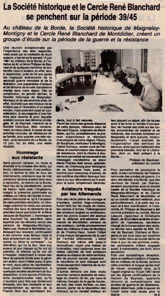 Le Bonhomme picard du 29 juin 1991
