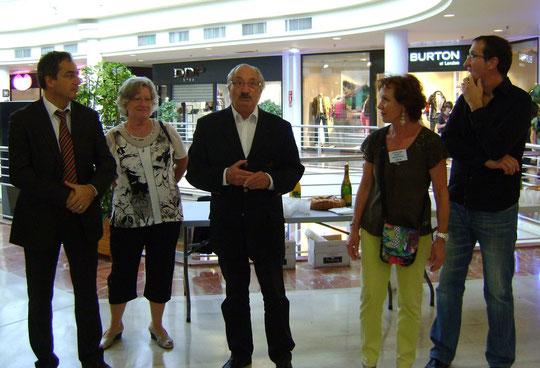 Forum OSV 2012 A. Maurice, Maire de Valence, Y. Saint-Clair, Présidente du CDOTS 07-26, J.-M. Abattu, Président de l'OSV, J.  Champlovier, responsable animation OSV, P.-J. Veyret, vice-président CG 26