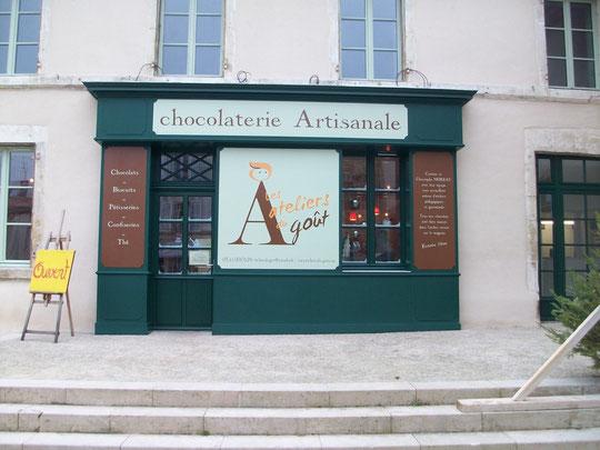 La nouvelle façade de la chocolaterie