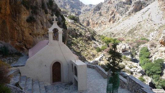 Kapelle in der Kourtaliotiko-Schlucht