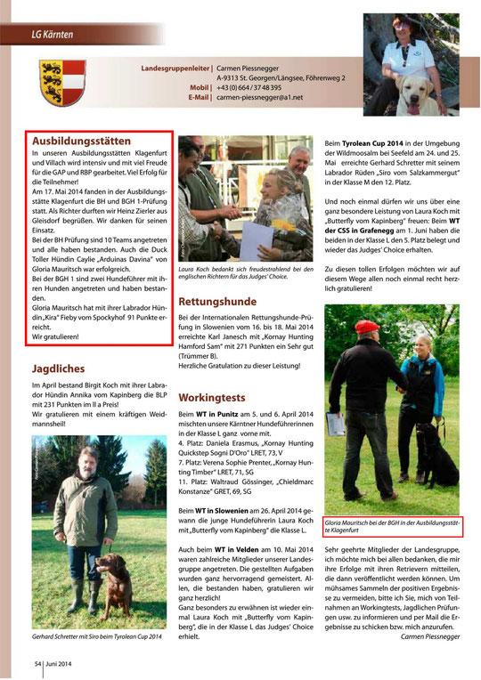 Retriever Zeitung, Juni 2014