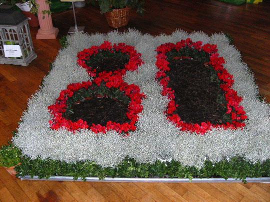 Dekoration der Ausstellung zum 80-jährigen Jubiläum